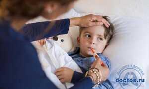 У ребенка заложен нос и температура как лечить