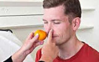Снижение обоняния причины лечение