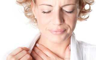 Сохнет и першит горло лечение